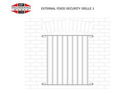 Security grilles can be fitted externally in front of windows for immediate visibility and deterrence