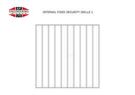 Beat the burglar with our internal security fixed grilles