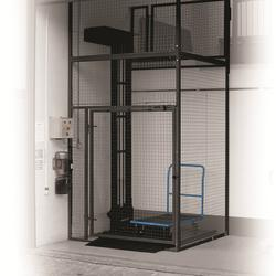 250-500kg Fully Enclosed Self-Supporting Outdoor Mezzlift image