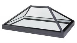 Our accredited structural silicone glazing techniques allow the production of a glass lantern rooflight without the requirement for internal framework to the products hips or ridge. When looking up at the rooflight, the external hip and ridge cappings are desi...