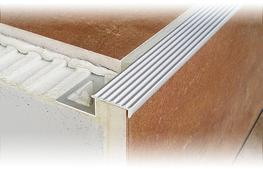DURASTEP SOLID is a stair nosing profile in aluminium or highly robust V2A stainless steel designed to create safe and highly attractive step edges. It is ideal for use in both private and commercial indoor areas (V2A stainless steel also suitable for use outd...