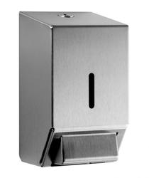 Stylish Lacquer Coated Brushed Stainless Steel Soap Dispenser with push action dispensing Small size allows for it to be located where space is restricted Cover hinges forward to give easy access to refill the soap reservoir Recessed locking mechanism Fully se...