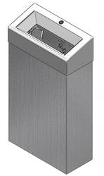 Open topped 30 litre Polished Stainless Steel bin The bin features a chute style lid Lacquer coated version available for easy cleaning and stops finger print residue Innovative bag holder which securely retains the bag within the bin Free standing or wall mou...