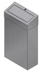 Bright Polished Stainless Steel 30 litre bin with spring loaded push flap operation Lacquer coated version available for easy cleaning and stops finger print residue Free standing or wall mounted for extra security Innovative bag holder which securely retains ...