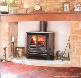 The Highlander 10 Woodburning Multifuel stove is a wide version of the popular highlander 8 stove, with the same burning control system but nearly 100mm wider than the 8 and with a fuel box area to take logs up to 550mm long, this makes the highlander 10 more ...