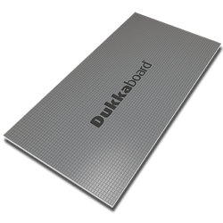 Dukkaboard Panels are made from extruded polystyrene foam reinforced either side with fibre glass mesh and a layer of cement creating a strong waterproof backing for tiles and stone....