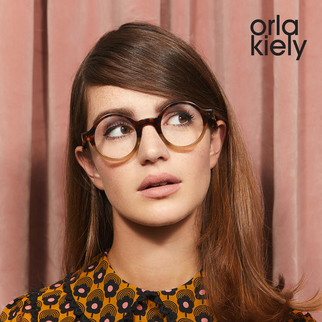 Woman wearing Orla Kiely Frames
