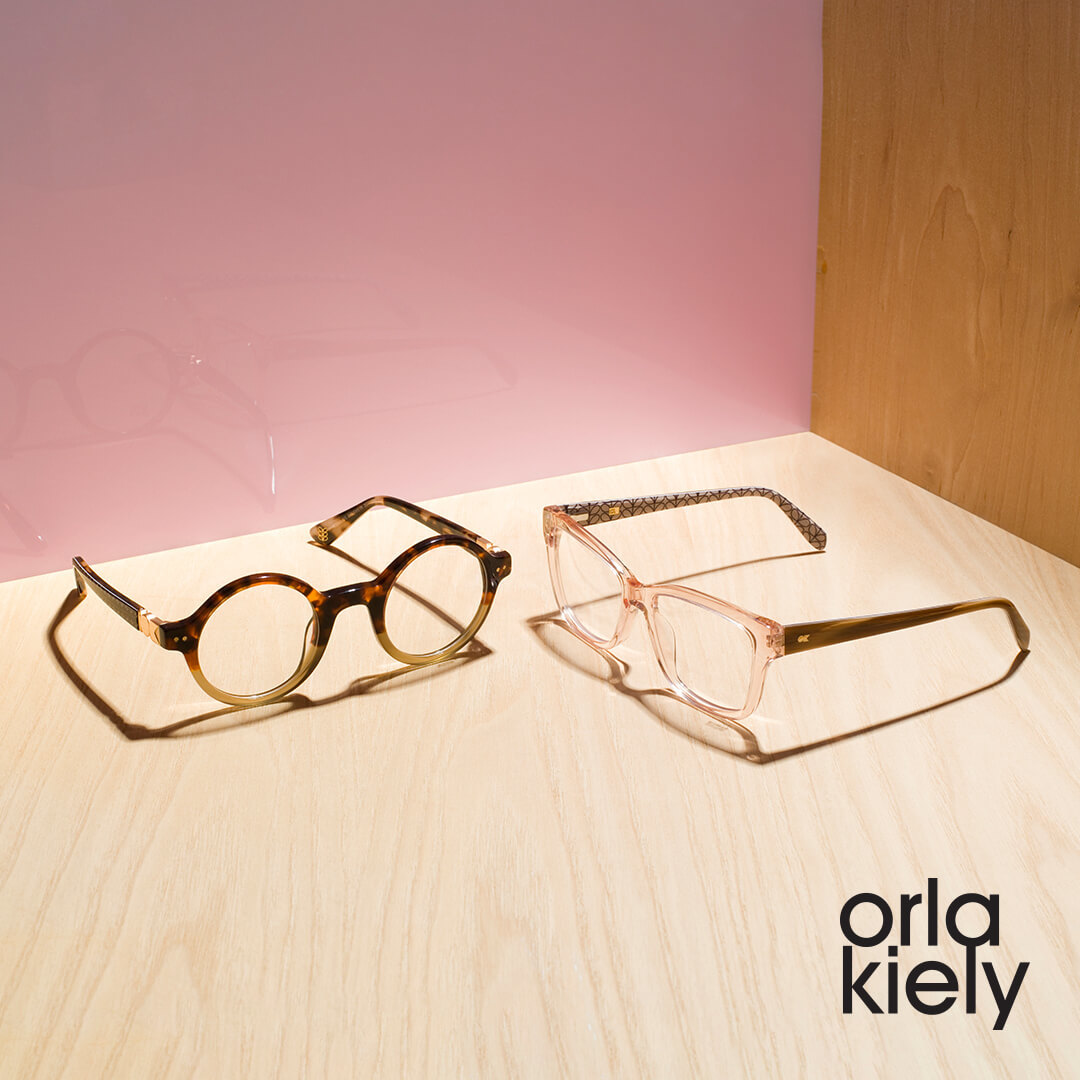 Orla Kiely frames on desk