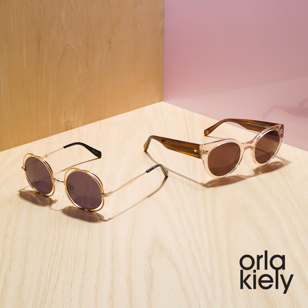 Orla Kiely sunglasses on desk