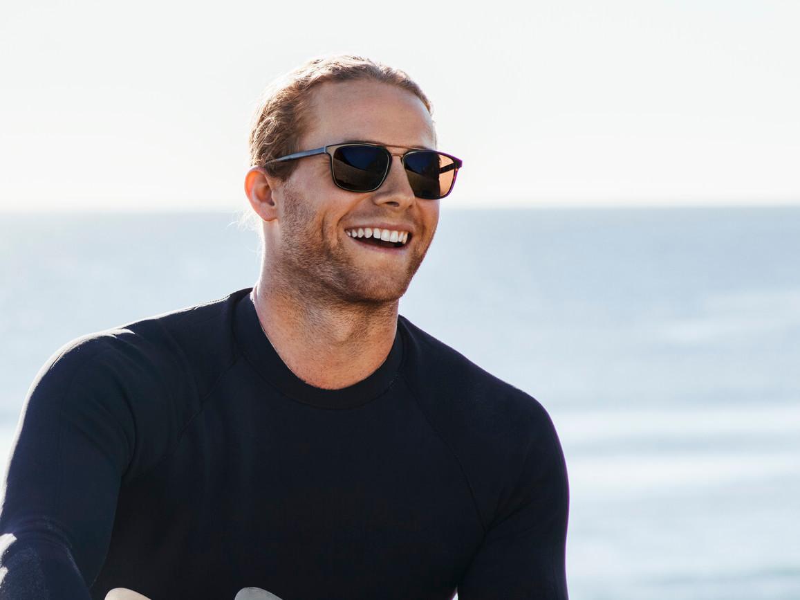 Jack at the beach wearing OSIRIS VICTORIOUS SUN RX