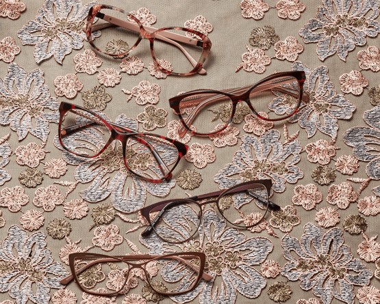 Ophelia Florals Glasses Collection