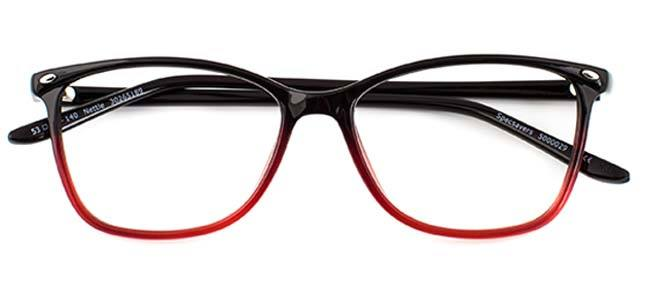 7ba5c7a7b079 Embrace the autumnal shade with a bright coat or boots and some  head-turning red glasses. We love the black-to-red fade ...
