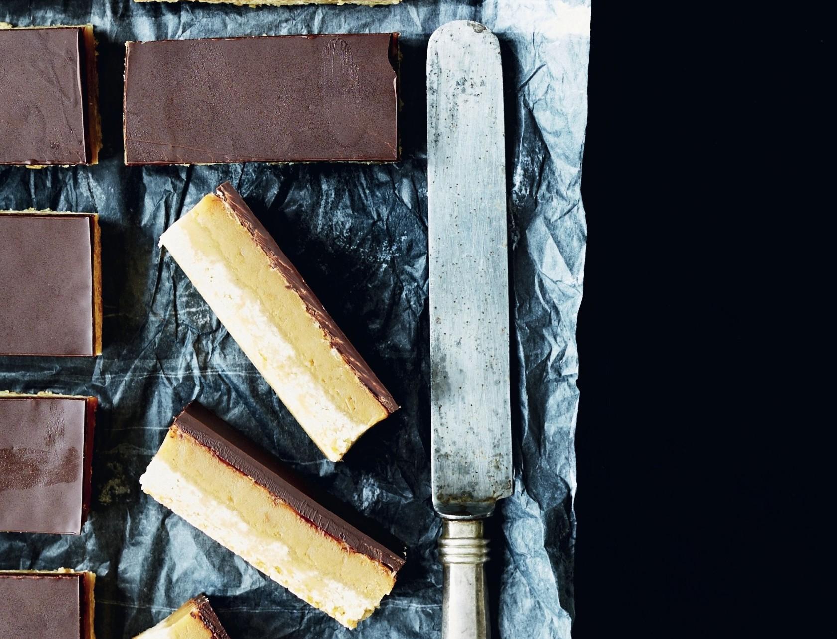 Karamelsnitter med chokolade - den lækreste kage nogenside!