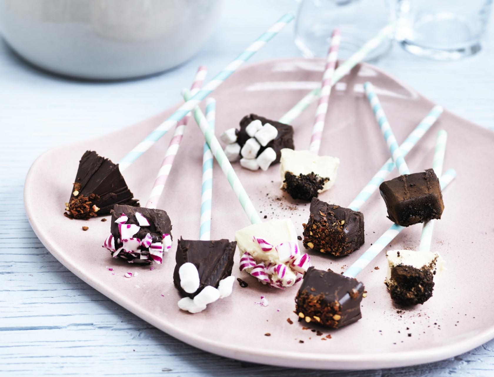 Chokoladepinde til varm chokolade