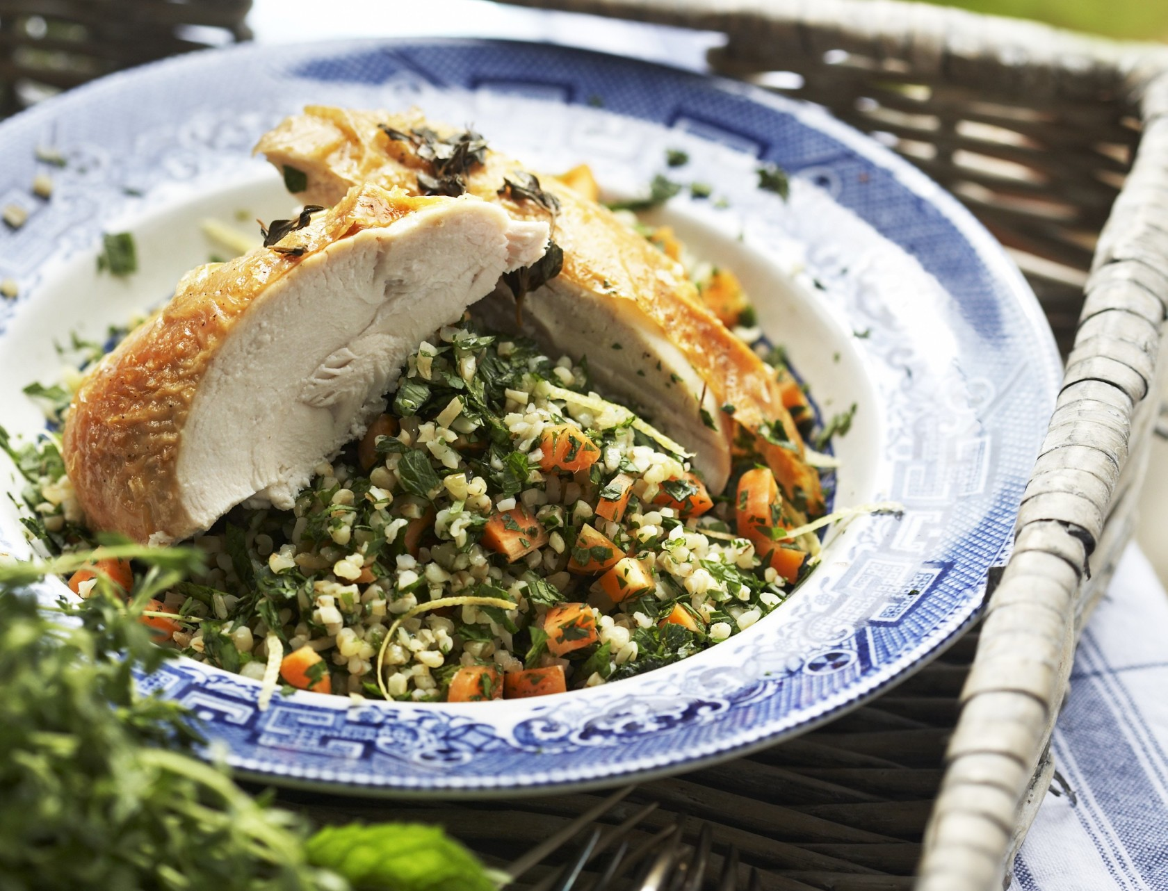 Kylling i ovn og bulgursalat