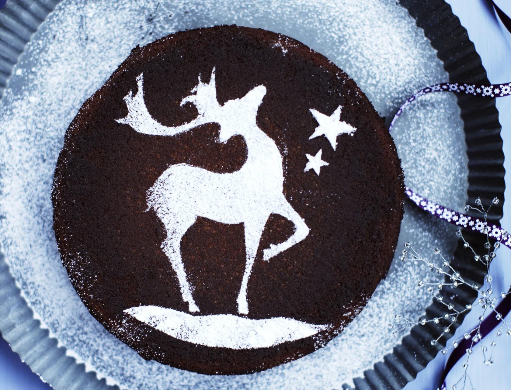 Chokoladekage med kaffe og hasselnødder