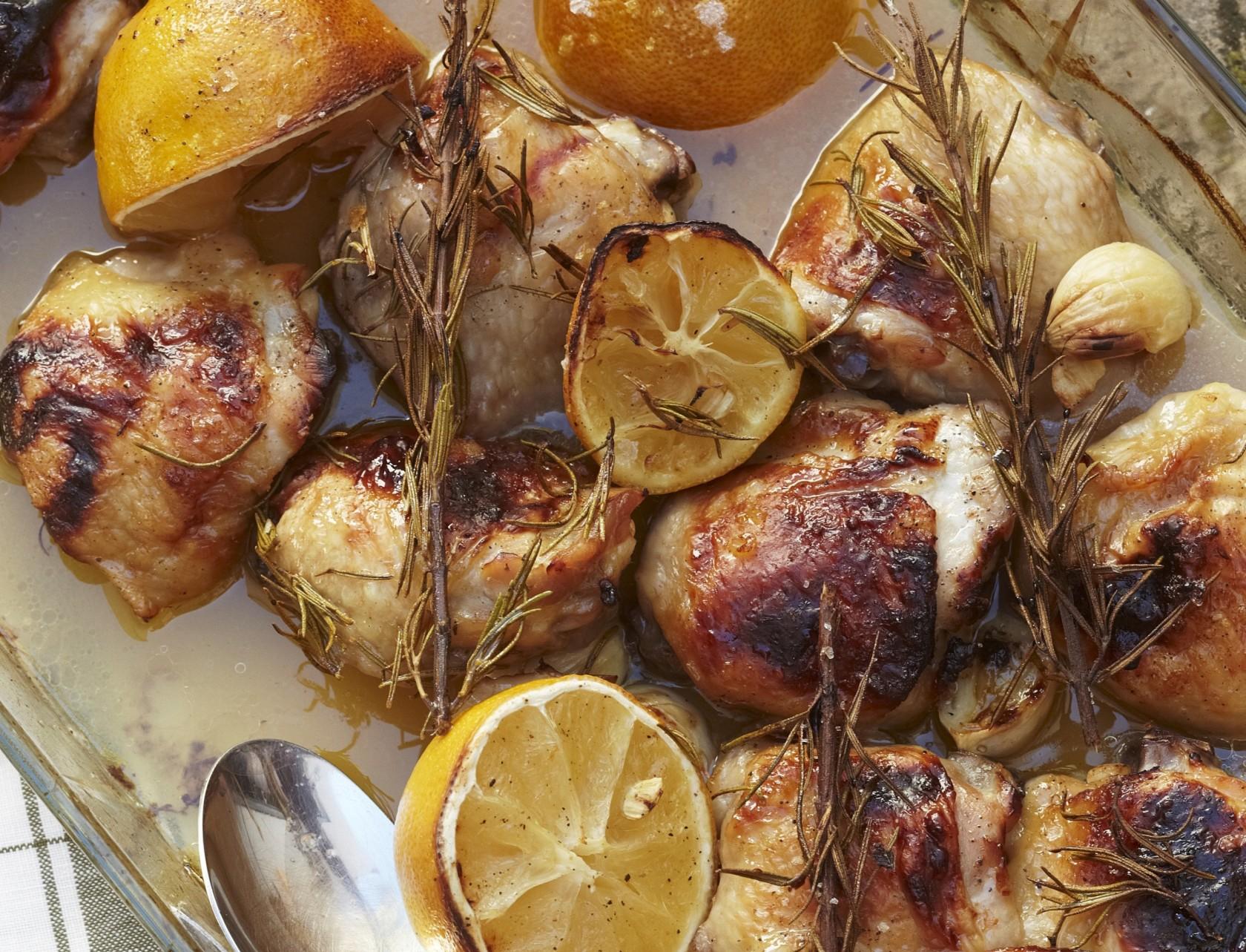 Citronkylling i ovn - nem opskrift på kylling til buffeten eller børnefødselsdagen.