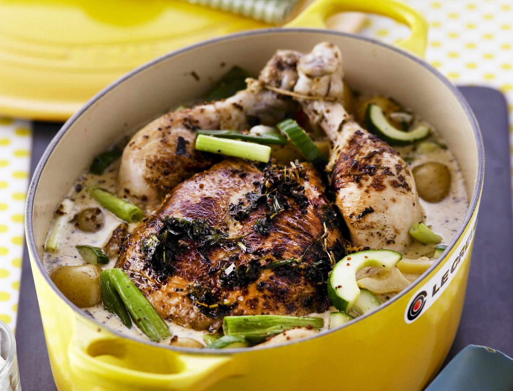 Hel kylling i sennepssovs - virkelig lækker opskrift