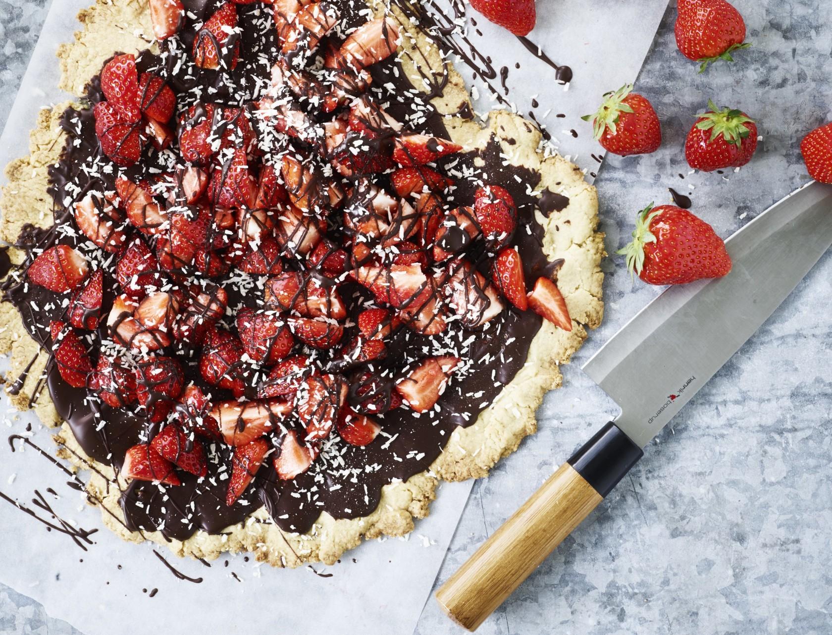 Rustik jordbærtærte, der smager fantastisk