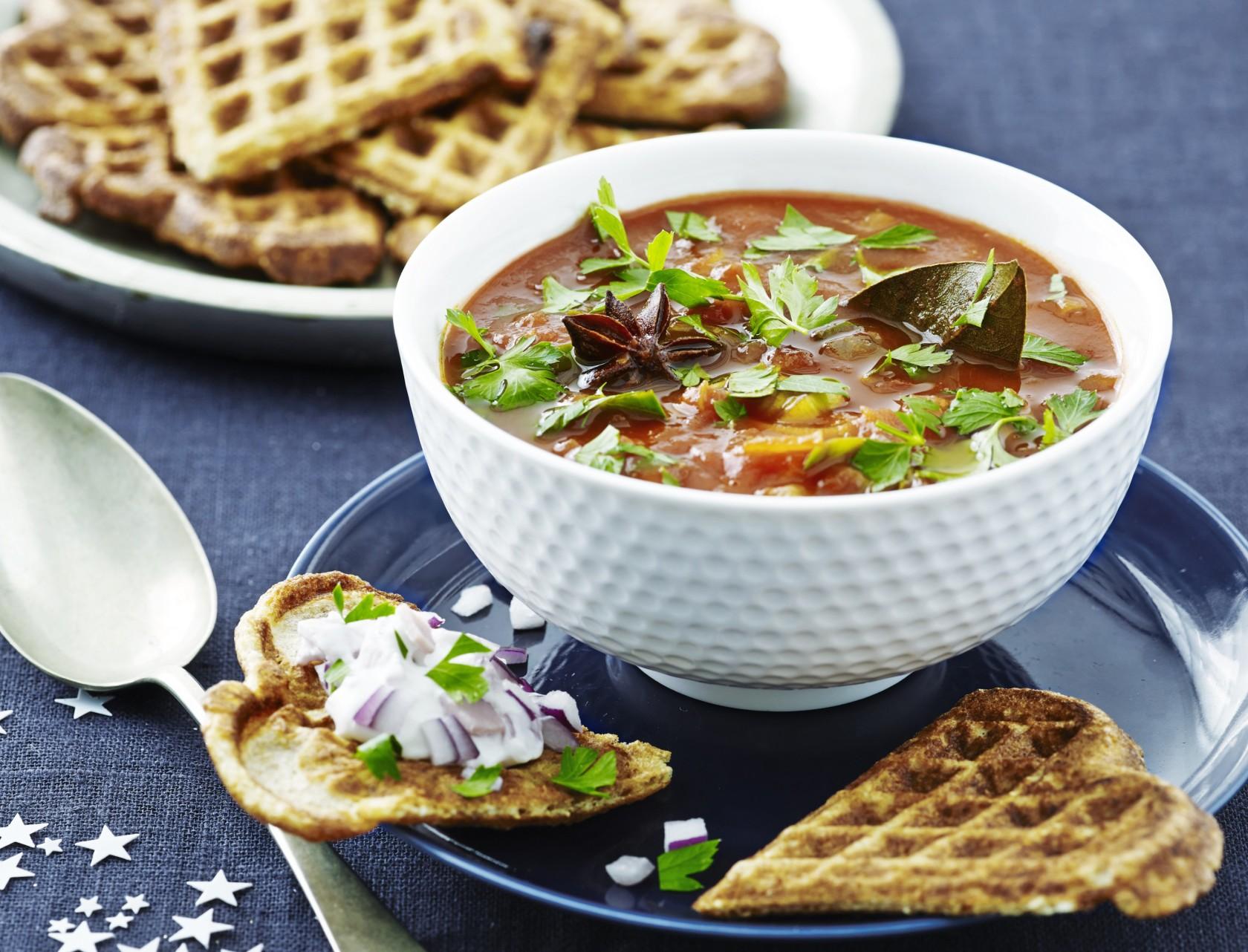 Krydret og mættende tomatsuppe