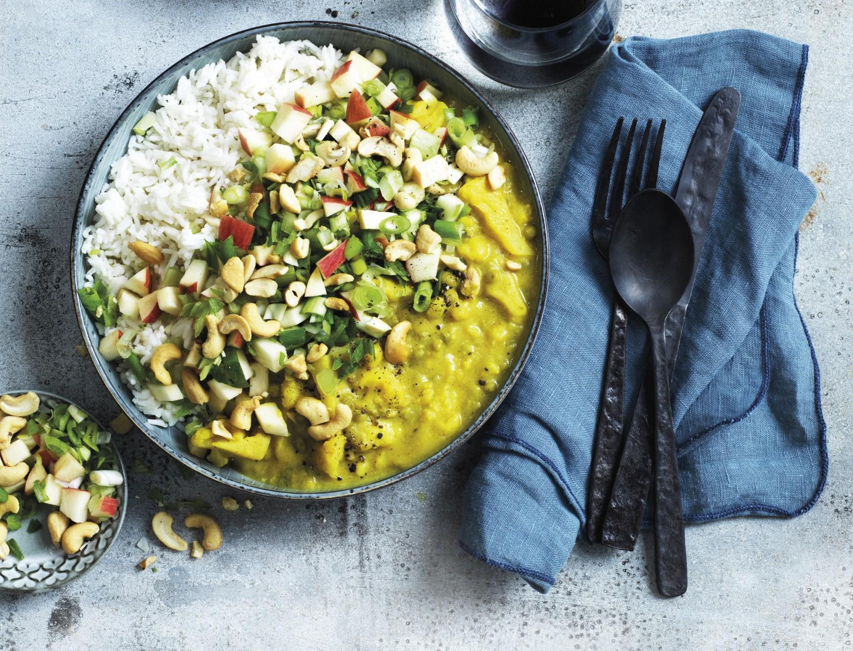 Vegansk curry med blomkål