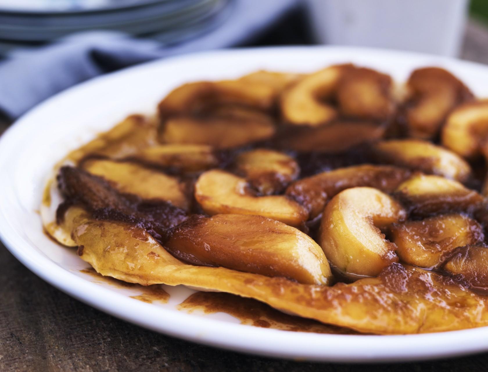 Fransk æbletærte med butterdej