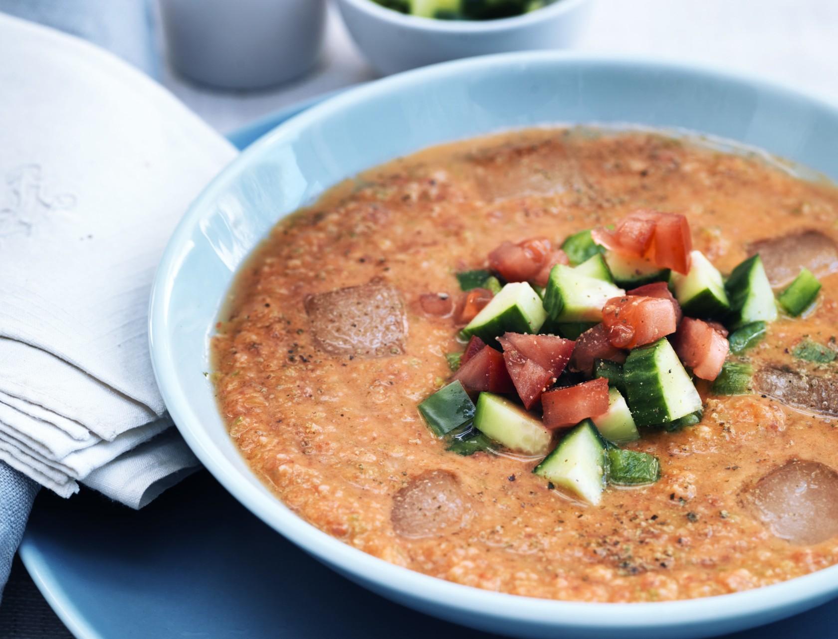 Lækker gazpacho med chili!