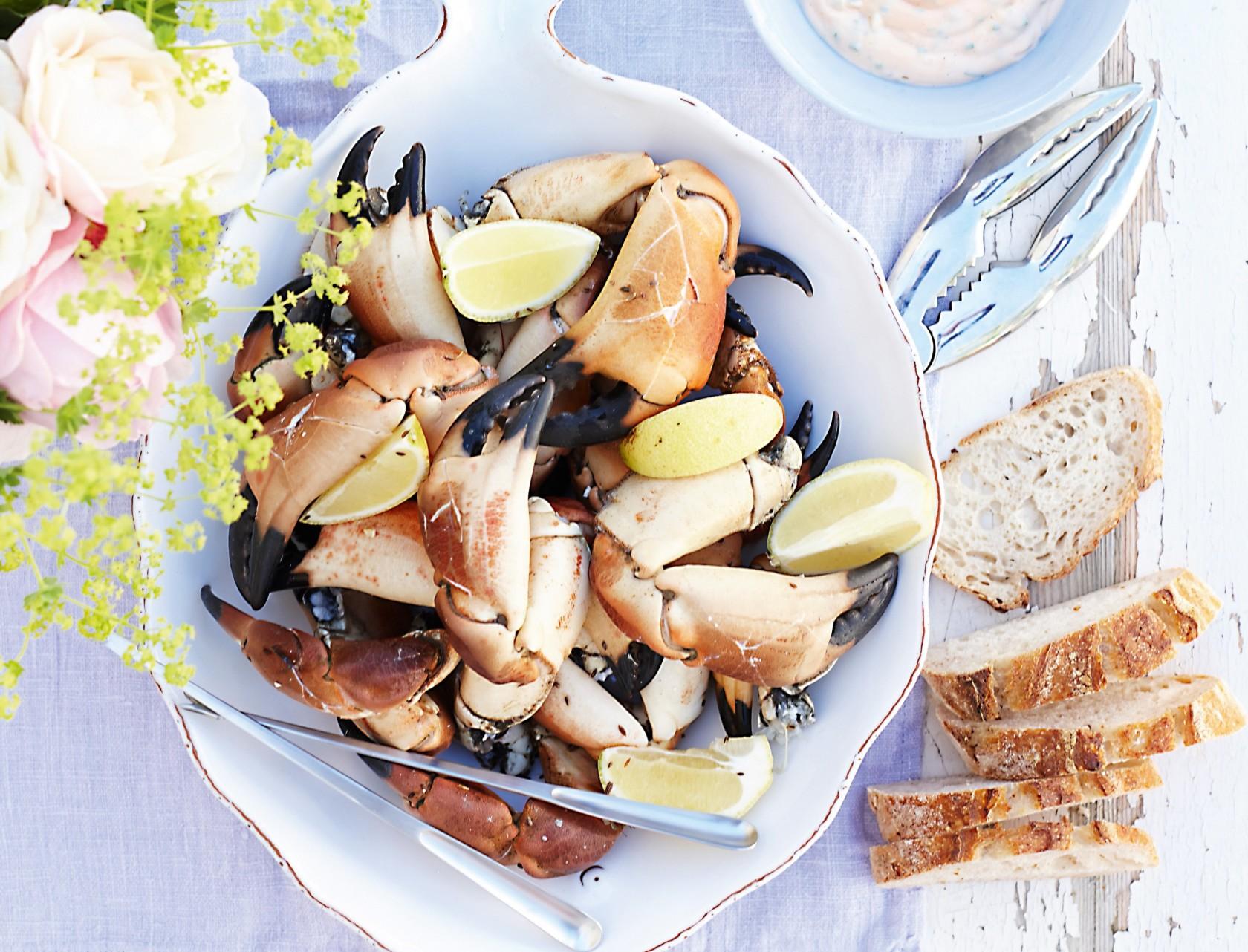 Krabbekløer med kryddermayonnaise