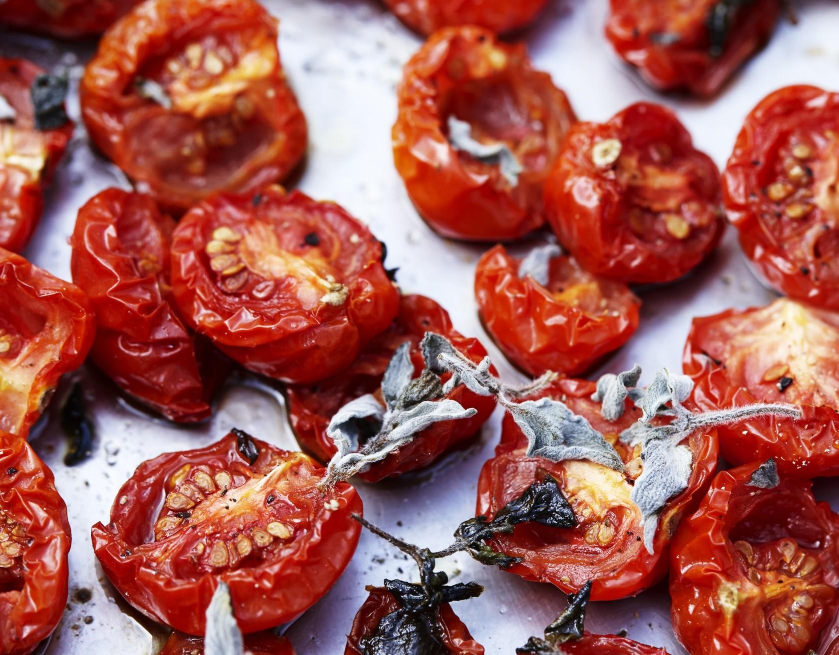Tørrede tomater med oregano