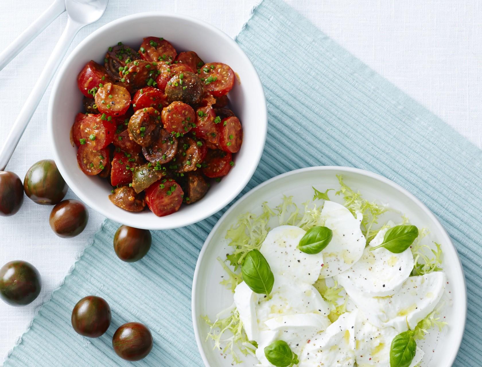 Tomatsalat med tomatdressing
