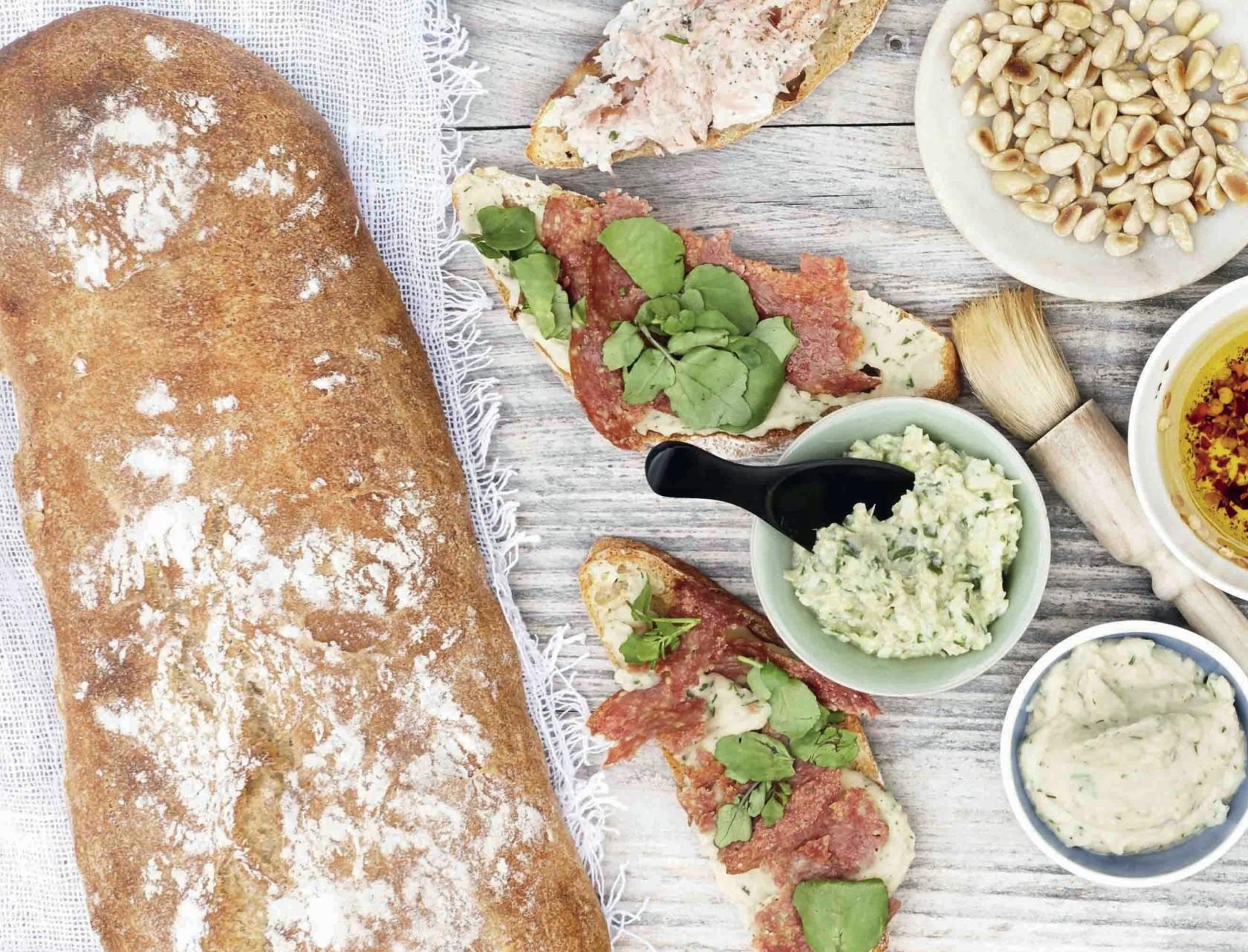 Koldhævet durumbrød – perfekt til bruschetta