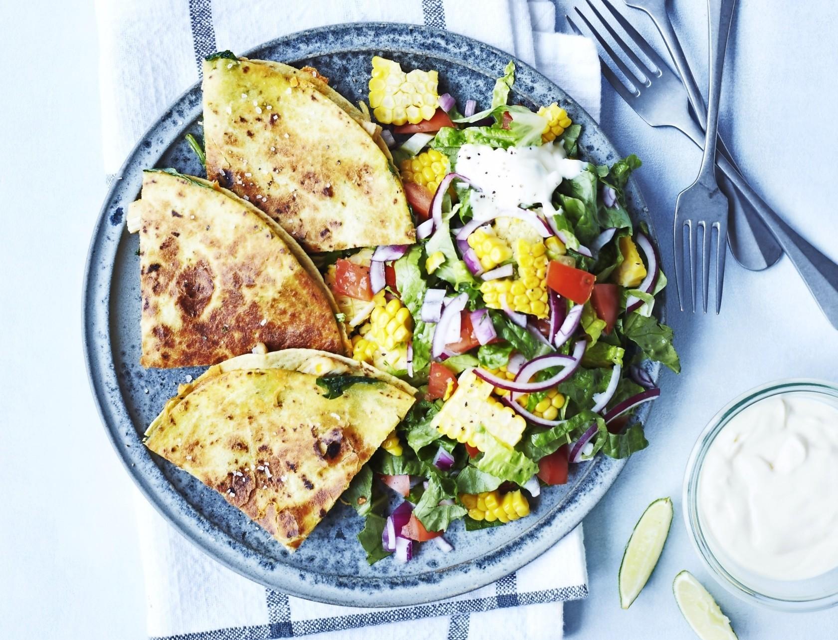Quesadillas med kylling og cremefraiche - den bedste opskrift!