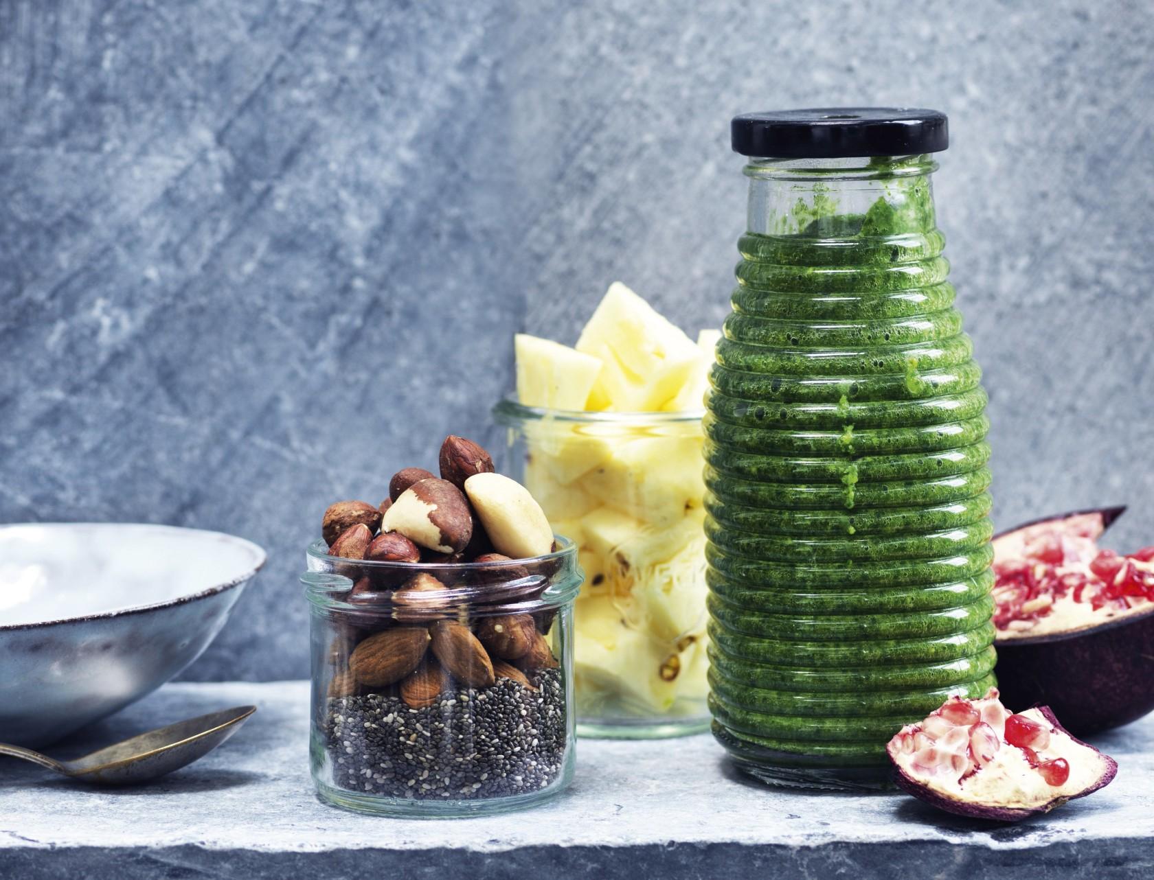 Grøn måltids-smoothie ala greenie.