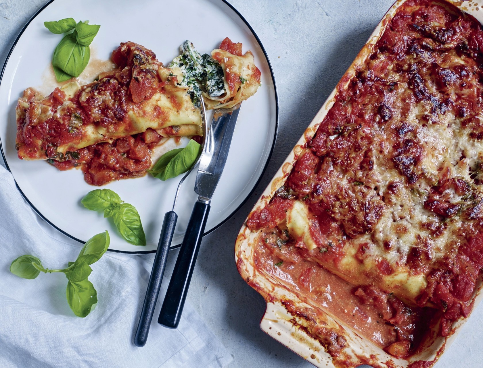 Cannelloni med spinatfyld og ricotta - den bedste opskrift!