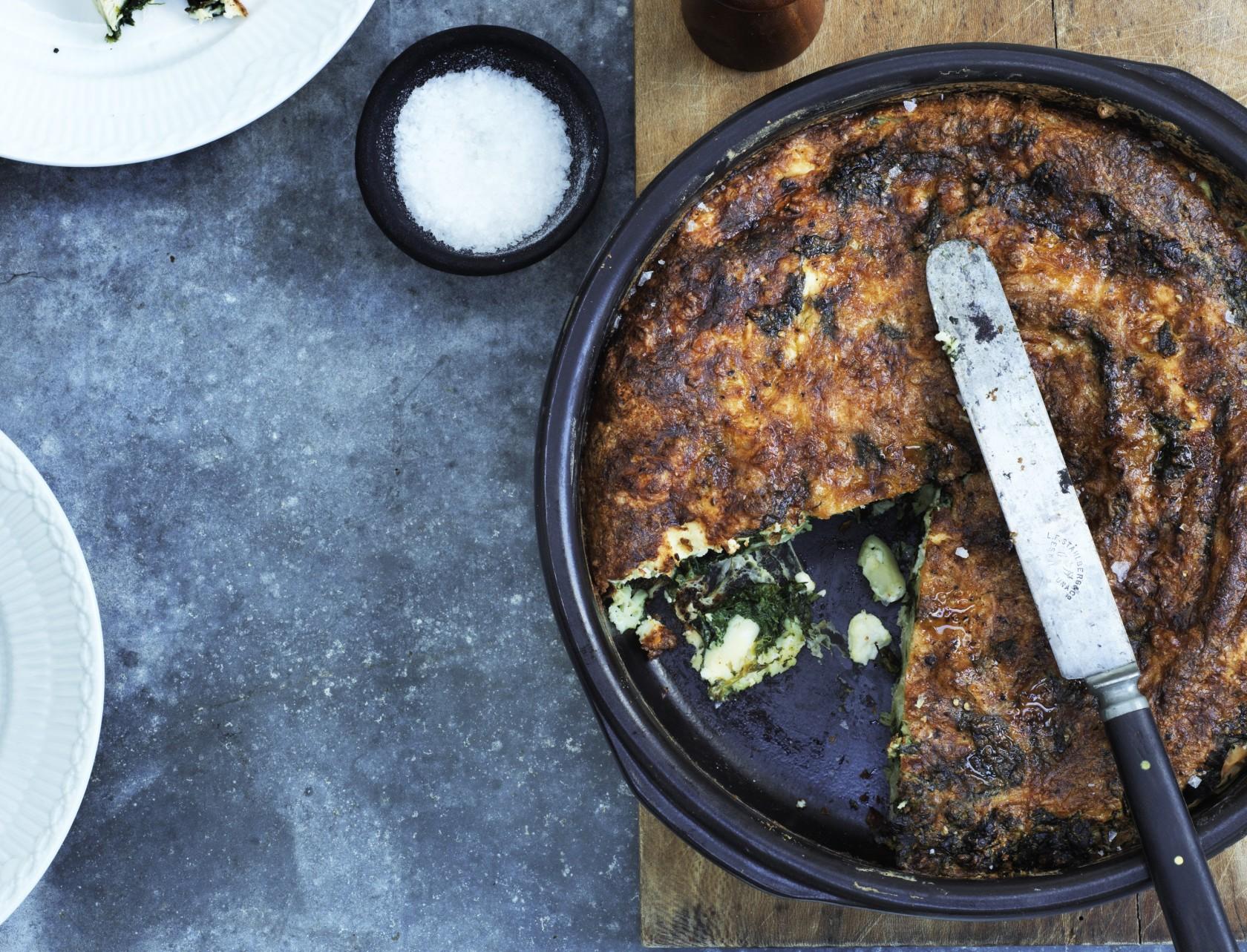 Spanakopita – opskrift på græsk spinattærte