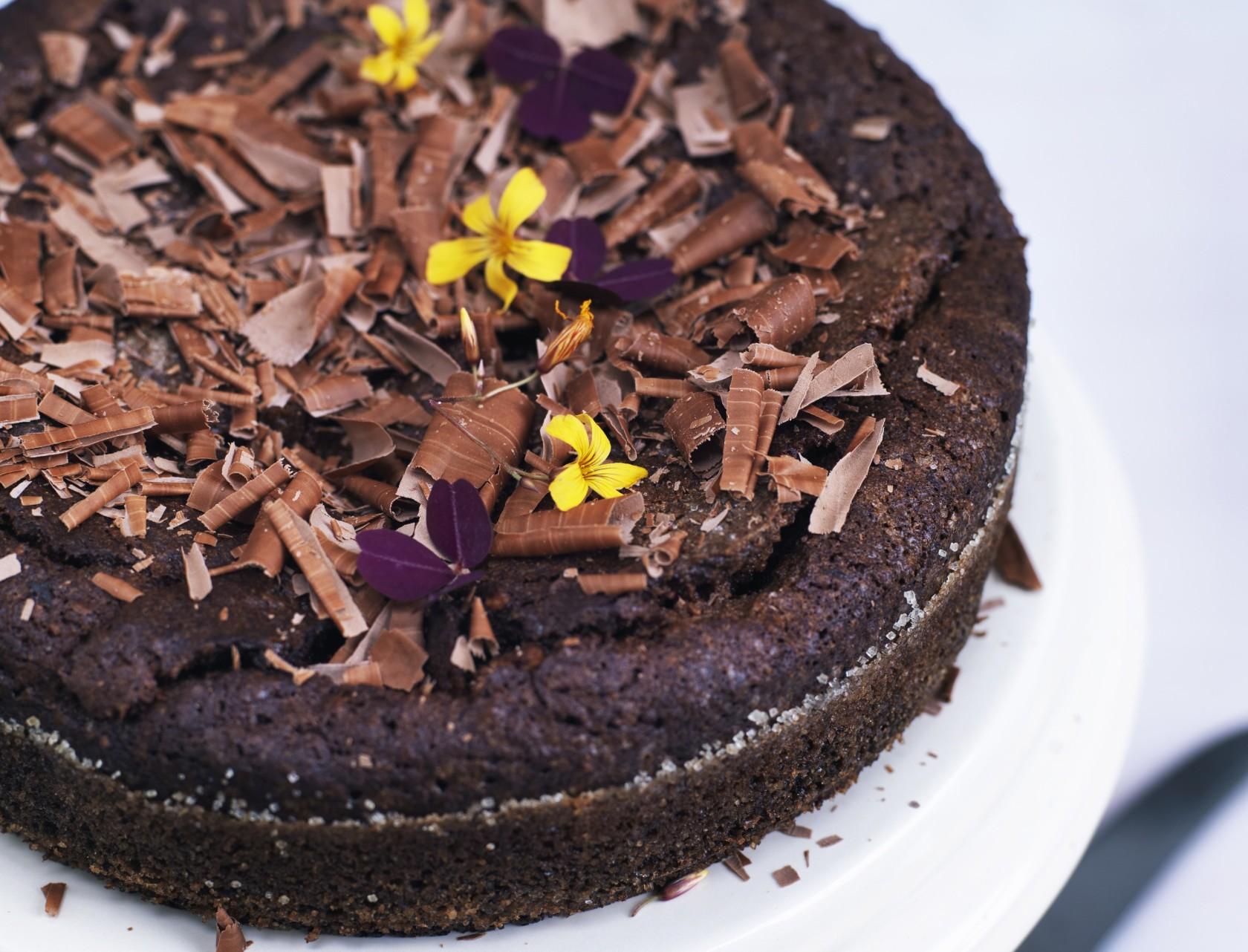 Chokoladekage med orangemarmelade - nem og lækker opskrift.