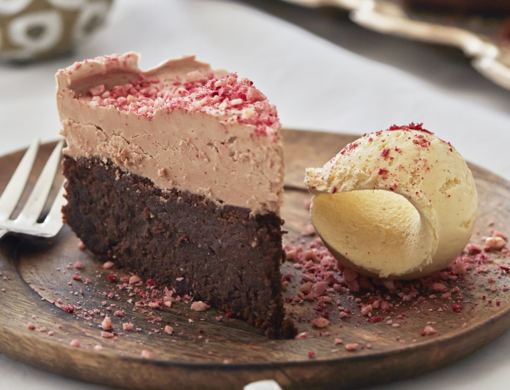 Chokoladedrøm med is - god opskrift på chokoladekage.