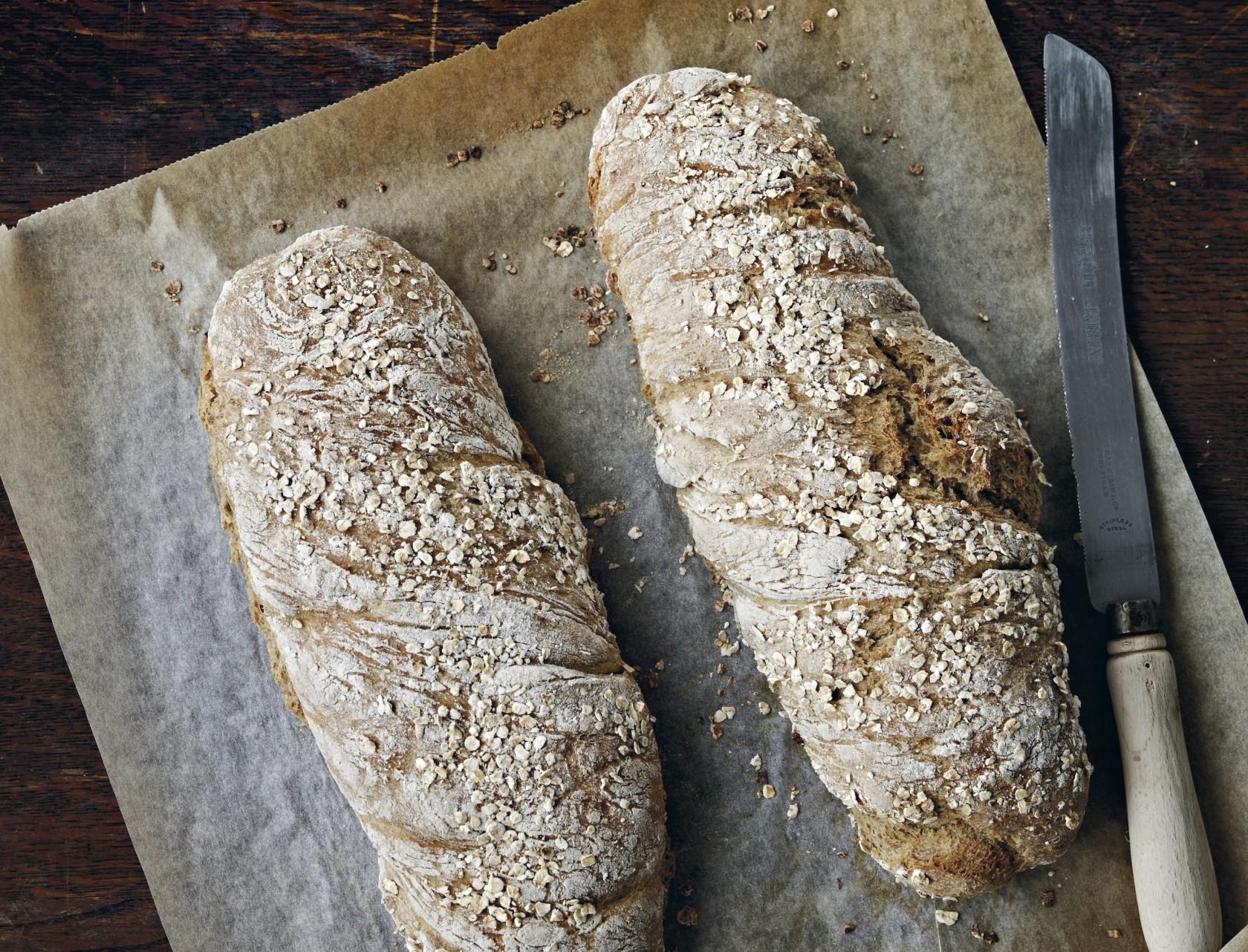 Grovbrød med havregrød