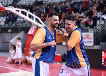 Aristide Landi Marco Bojan Matic Virtus Roma - 2B Control Trapani Campionato Basket LNP 2018/2019 Roma 18/11/2018 Foto Gennaro Masi / Ciamillo-Castoria