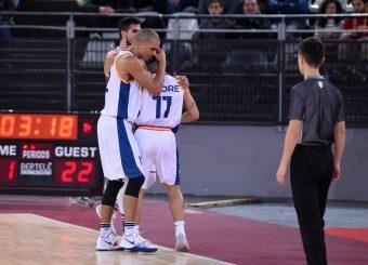 Daniele Sandri Nic Moore Virtus Roma - 2B Control Trapani Campionato Basket LNP 2018/2019 Roma 18/11/2018 Foto Gennaro Masi / Ciamillo-Castoria