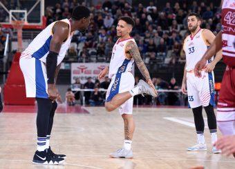 Henry Sims Nic Moore Virtus Roma - 2B Control Trapani Campionato Basket LNP 2018/2019 Roma 18/11/2018 Foto Gennaro Masi / Ciamillo-Castoria