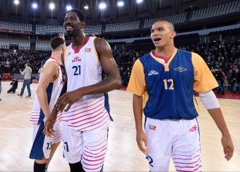 Henry Sims Daniele Sandri Virtus Roma - 2B Control Trapani Campionato Basket LNP 2018/2019 Roma 18/11/2018 Foto Gennaro Masi / Ciamillo-Castoria