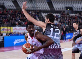 Henry Sims Virtus Roma - Zeus Energy Group Rieti Campionato Basket LNP 2018/2019 Roma 02/12/2018 Foto Gennaro Masi / Ciamillo-Castoria