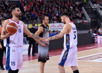 Aristide Landi Tommaso Baldasso Virtus Roma - Zeus Energy Group Rieti Campionato Basket LNP 2018/2019 Roma 02/12/2018 Foto Gennaro Masi / Ciamillo-Castoria