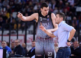 Aleksa Nikolic Alessandro Rossi Virtus Roma - Zeus Energy Group Rieti Campionato Basket LNP 2018/2019 Roma 02/12/2018 Foto Gennaro Masi / Ciamillo-Castoria