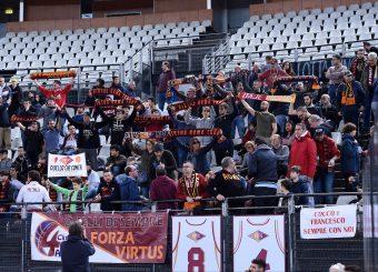 Tifosi Virtus Roma Virtus Roma - Remer Blu Basket Treviglio Campionato Basket LNP 2018/2019 Roma 23/12/2018 Foto Gennaro Masi / Ciamillo-Castoria