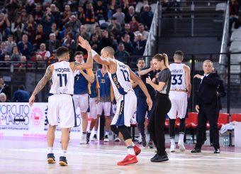 Nic Moore Daniele Sandri Virtus Roma - Remer Blu Basket Treviglio Campionato Basket LNP 2018/2019 Roma 23/12/2018 Foto Gennaro Masi / Ciamillo-Castoria