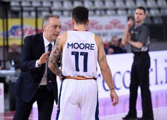 Piero Bucchi Nic Moore Virtus Roma - Axpo Legnano Campionato Basket LNP 2018/2019 Roma 06/01/2019 Foto Gennaro Masi / Ciamillo-Castoria