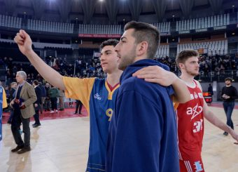 Edoardo Lucarelli Marco Santiangeli Virtus Roma - Axpo Legnano Campionato Basket LNP 2018/2019 Roma 06/01/2019 Foto Gennaro Masi / Ciamillo-Castoria