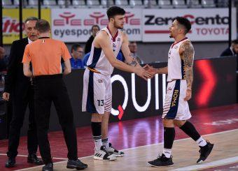 Tommaso Baldasso Nic Moore Virtus Roma - Benacquista Assicurazioni Latina Campionato Basket LNP 2018/2019 Roma 16/01/2019 Foto Gennaro Masi / Ciamillo-Castoria